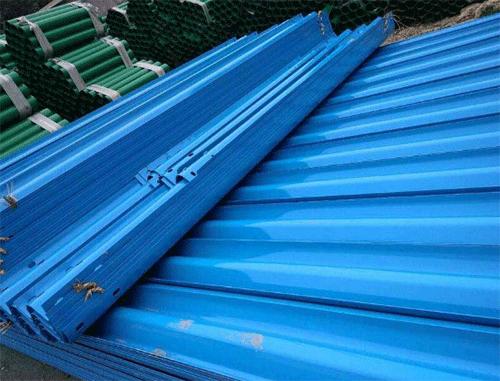 喷塑波形护栏(蓝色)