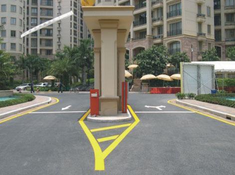 小区道路标线
