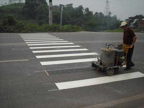 人行道道路标线施工