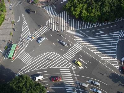十字路口道路标线
